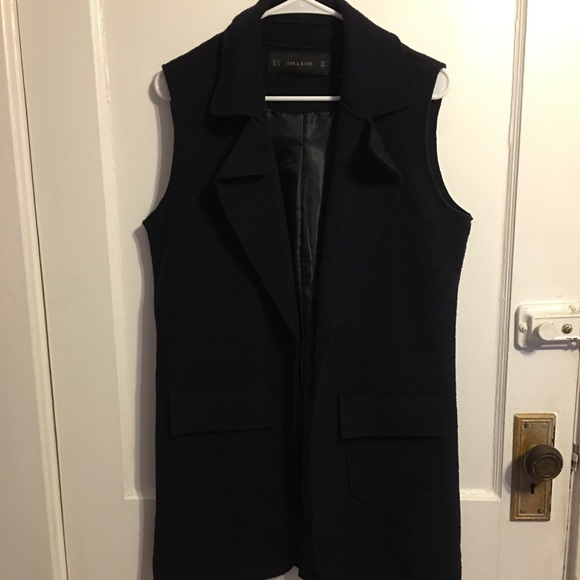 Jackets & Blazers - Navy Blue Vest